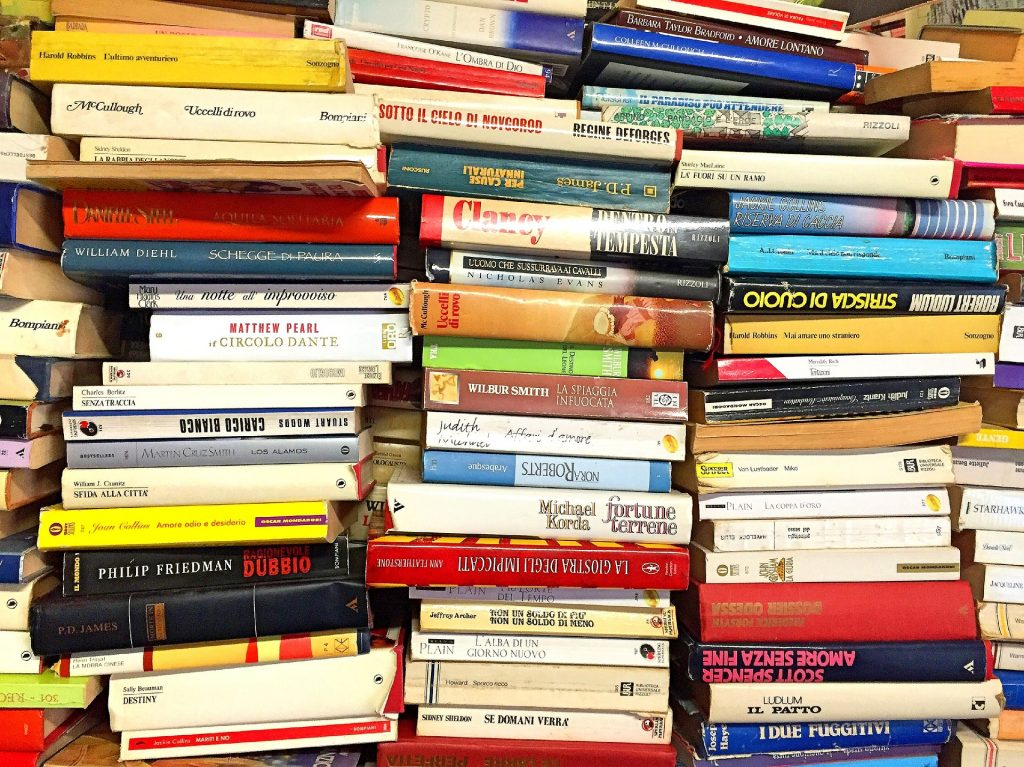 photo of stacks of used books