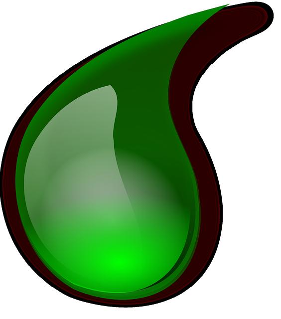 green drop of slime