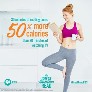 30 minutes of reading burns 50% more calories than 30 minutes of watching tv