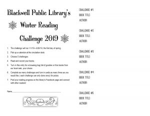 winter reading challenge form