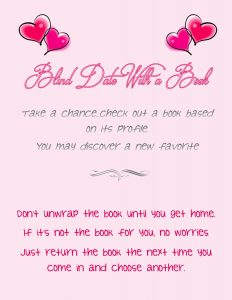 blind date with a book flyer