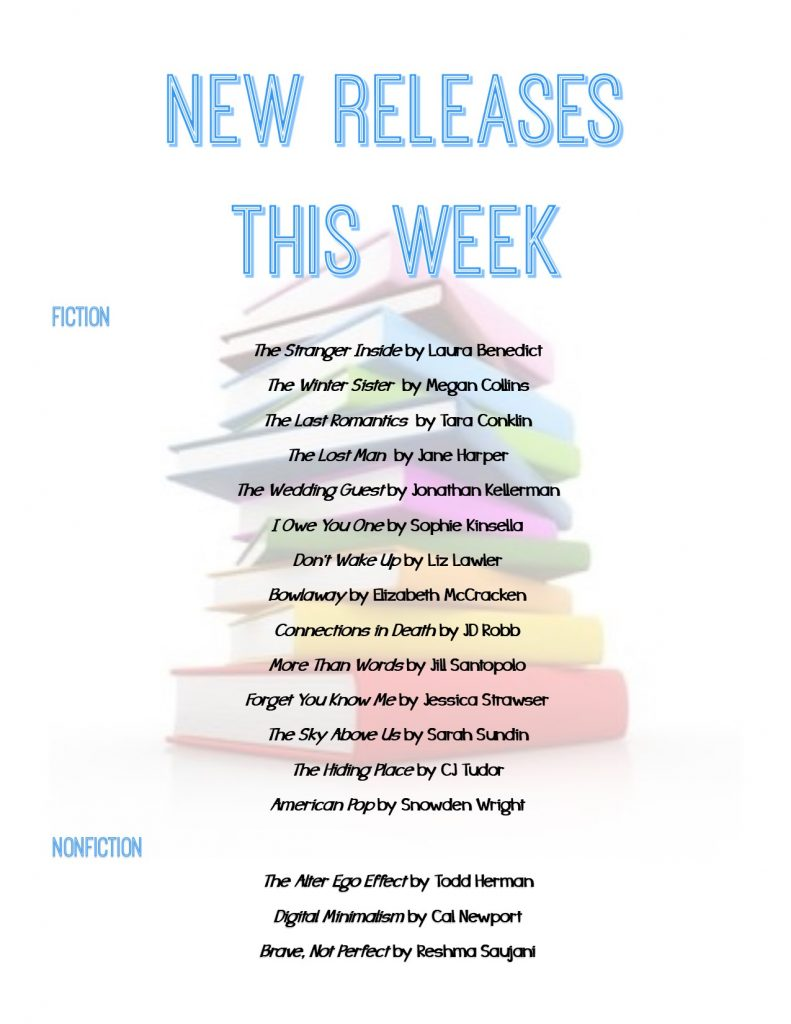 list of new book releases for the week of 2/5/19