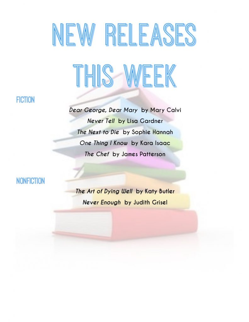 list of new book releases for the week of 2/19/19