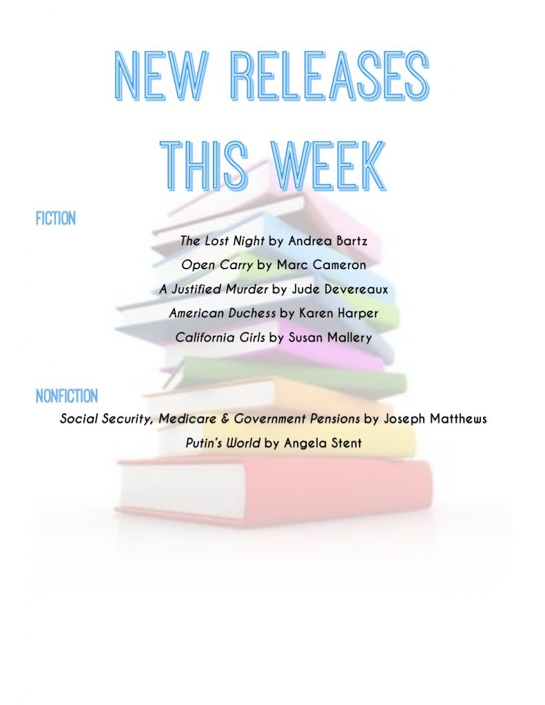 list of new book releases for the week of 2/26/19