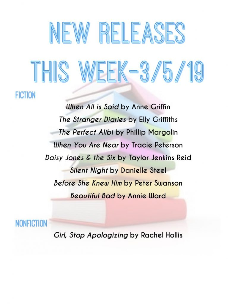 list of new releases for the week of 3/5/19