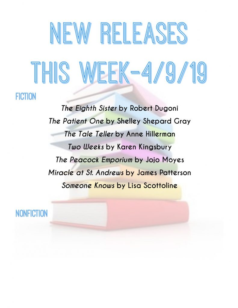 new book title list 4/9/19