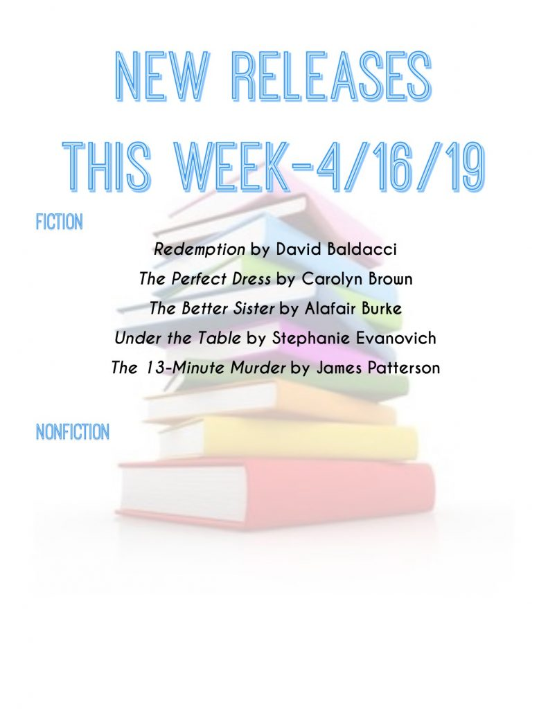new book title releases 4/16/19