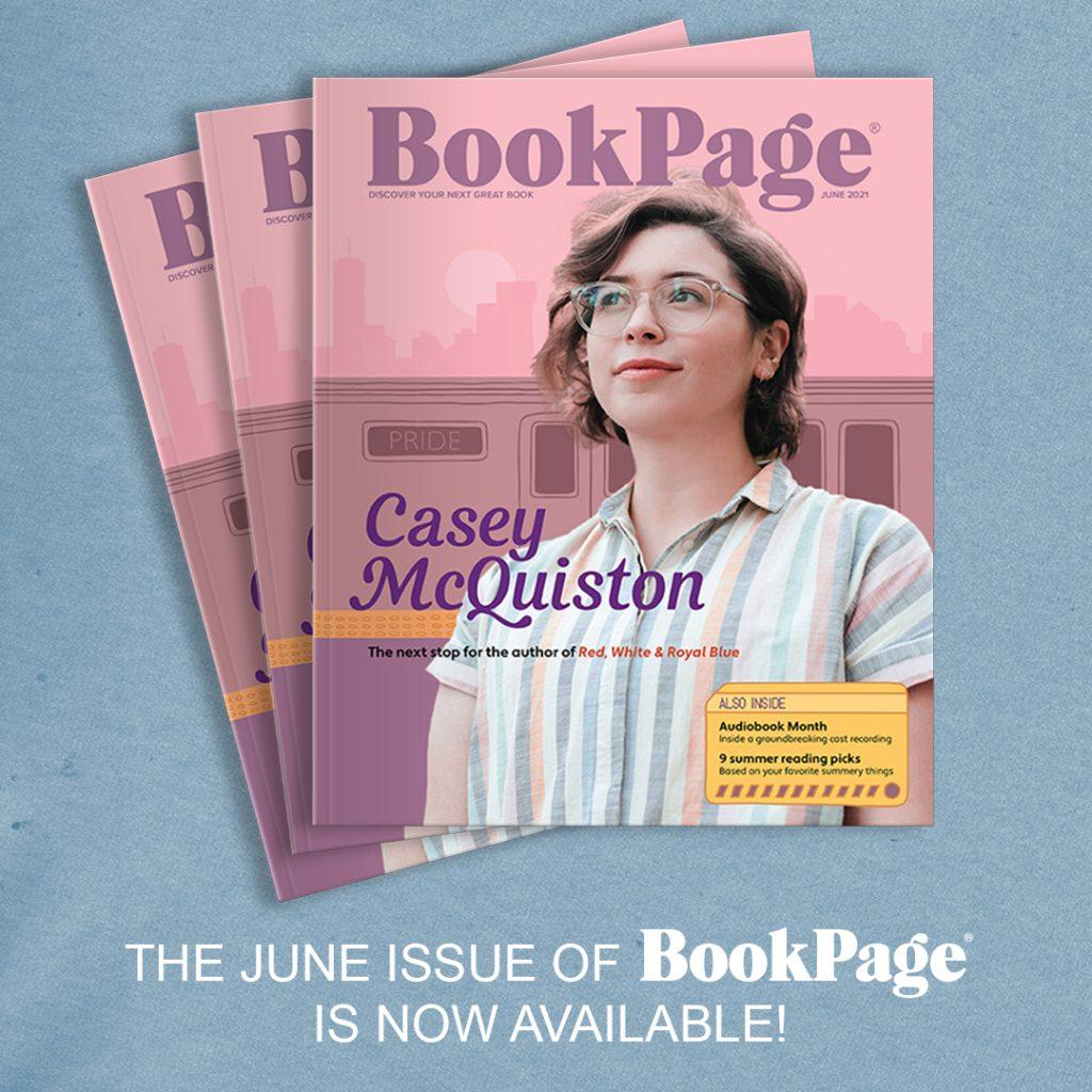 BookPage cover with photo of Casey McQuiston